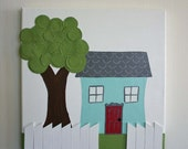 Affordable, Original Painting, Wall Art, Home Decor - House a Home (12 x 12 Canvas)