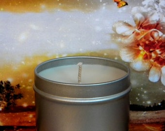 AUTUMNS DREAM Sandalwood, Amber Musk & Vanilla Soy Tin Candle - Handmade Soy Candle