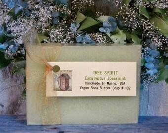TREE SPIRIT Eucalyptus Spearmint Soap - Handmade Natural Soap - Spearmint Soap Bar - Eucalyptus Soap