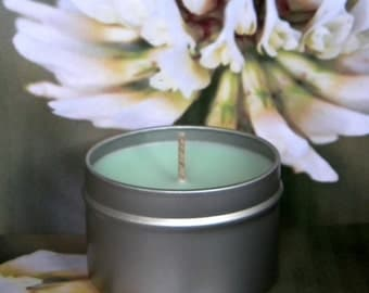 CLOVER JOYED Aloe, Clover & Jasmine Soy Candle - Handmade Scented Candles