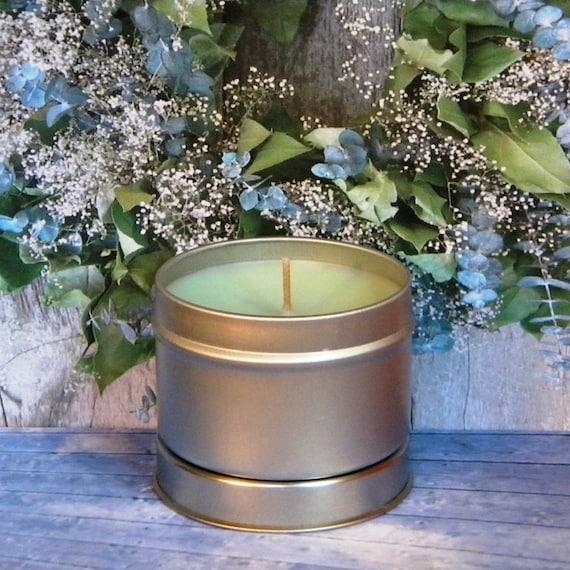 TREE SPIRIT Eucalyptus Spearmint Candle Tin - Handmade Soy Candles