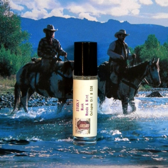 STUDLY Mens Musk, Woods & Mint Cologne Oil - Mens Natural Musk Cologne Oil