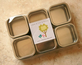 Square Window Tins - set of 50 - Perfect for Wedding Favors and Retail Packaging
