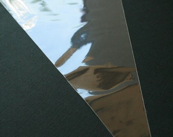 QTY 150 Ultra Clear Cone Shaped Bags - 1.2mil thickness - 6 x 12 Inches