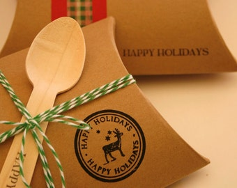 DIY Brown Kraft Pillow Boxes - Set of 60 - Perfect for Embellishing with Deco Tapes - 4 1/2 x 4 1/2 x 1 1/2 Inches
