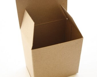 Brown Kraft Boxes - set of 25 - Perfect with Twine or Deco Tape - Packaging - 3 x 2 x 3 Inches