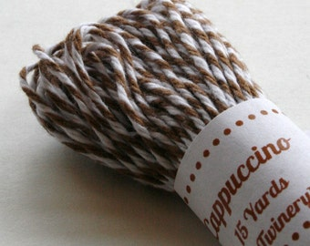 Baker's Twine - Tester Size - 15 Yards - Cappuccino Mocha Latte Brown 4 Ply Twine