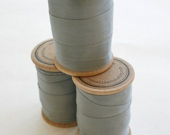 Rayon Binding Tape - 1/2 Inch Wide - 10 Yds Clipper Grey on Wooden Spool - Packaging and Gift Ribbon