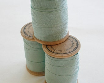 Rayon Binding Tape - 1/2 Inch Wide - 10 Yds Aquarelle on Wooden Spool - Packaging and Gift Ribbon