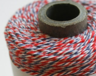 30 Yards - Airmail - Red White Blue - Divine Twine Baker's Twine