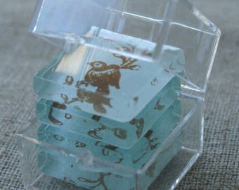 Tiny Clear Polystyrene Boxes - Qty 40