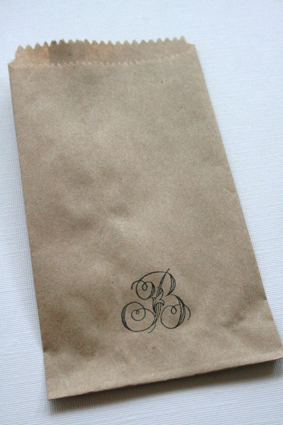 QTY 100 Extra Small Recycled Brown Paper Flat Merchandise Bags - 3 1/4 Inches x 5 1/4 Inches