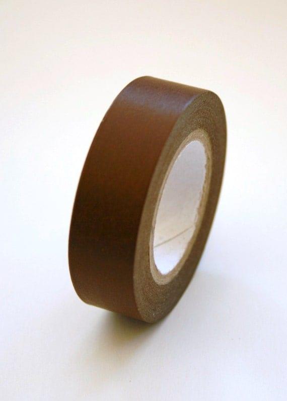 Washi Tape - 15mm - Cocoa Brown - Deco Paper Tape No. 10
