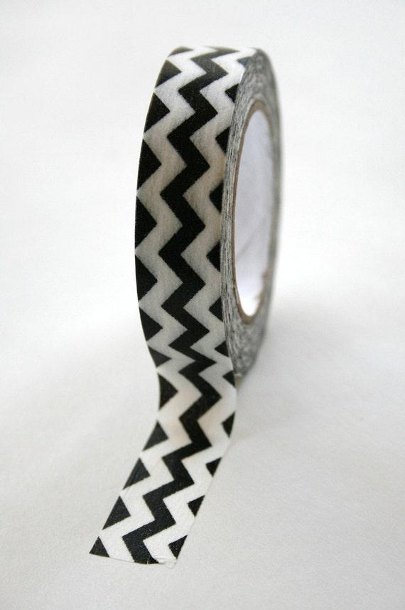 Washi Tape Black White Chevron - 15mm - Deco Tape No. 126