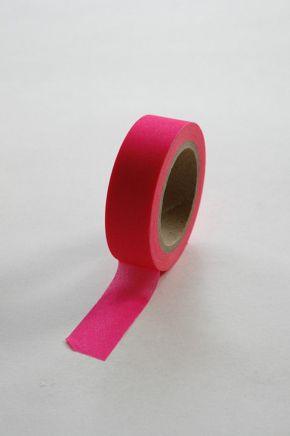 Washi Tape - 15mm - Neon Pink - Deco Paper Tape No. 19