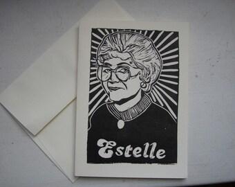 Golden Girls Note Card - Estelle Getty