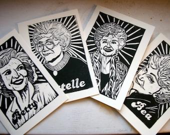 Golden Girls Note Cards - Complete Set