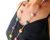 Colorful sunny necklace