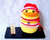 Reserved for pandorabijoux-Lucky Duck-Popcorn-Kokeshi style sock doll