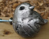 Drawer Knobs Silver Sparrow made of Resin LARGE (RK01)