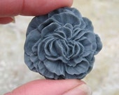 Drawer Knobs Peony Flower in Dark Grey, more COLORS available (RFK02)