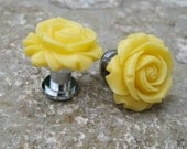 Petite Drawer knobs in Yellow with Rose MORE COLORS Available (RFK07)