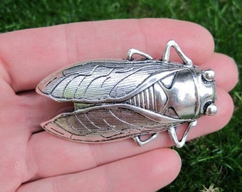 Insect (Cicada) drawer knob in Silver Metal (MK111)