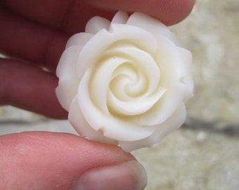 Petite Rose Drawer knobs in Cream MORE COLORS Available (RFK07)