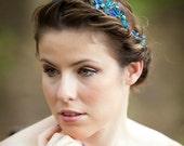 Blue Tiara, Crystal tiara, bridal tiara, something blue - Style 19