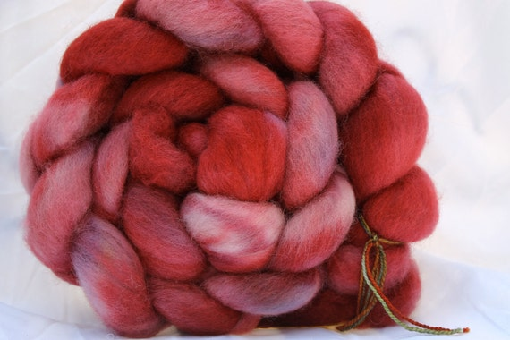 Hand Painted Mixed BFL/humbug spinning fiber 4 oz n47