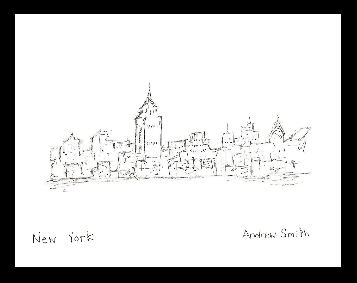 Simple city drawing