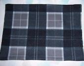 Black/Grey Plaid Heating Pad Cover