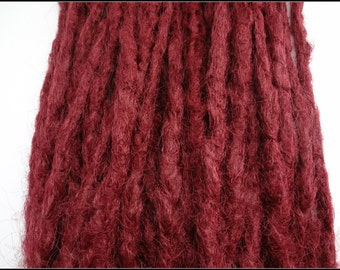 10 Burgundy Synthetic dreads, dreadlocks, dreads, synthetic dreadlocks, dreadlock extensions, dread, hair extensions, double ended dreads