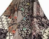 """Batik Queen Bedcover 84"""" x 84"""" - Black, Brown"""