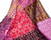 Ikat and Batik, Tablecloth, Throw, Baby Blanket, Pink, Purple