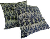 Ikat Pillow, 18x18, Set of 2