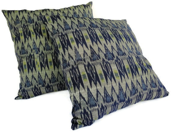 Ikat Pillow, 18x18, Set of 2