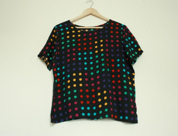 DOT YOUR EYES Colorful Candy Dot Print Shirt