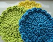 Bright colored Scrubbies 4 inch size