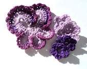 Passion for Purple Pansey and crochet flowers