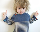 Nautical Sweater - for boy or girl - size 2-4 year old - made to order