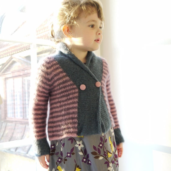 RESERVED - Girls Sweater - size 2-4 years - super soft natural yarn