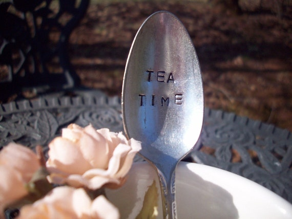 Hand Stamped TEA TIME Spoon
