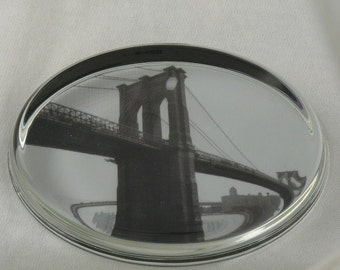 NYC Brooklyn Bridge Photograph PAPERWEIGHT by Laura Graham