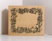 PSX ROSE VINE Border Frame Rubber Stamp