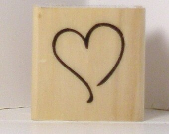 Open HEART Rubber Stamp