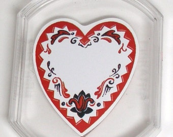 VICTORIAN HEART Acrylic Mounted Rubber Stamp