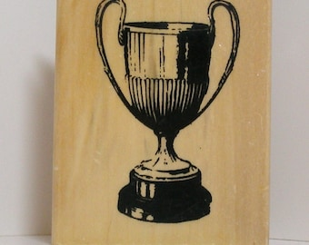 Vintage WINNERS TROPHY CUP Rubber Stamp