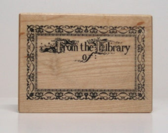PSX From the Library of BOOKPLATE Rubber Stamp