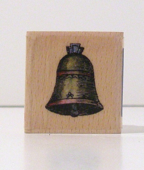 VINTAGE VICTORIAN BELL Rubber Stamp